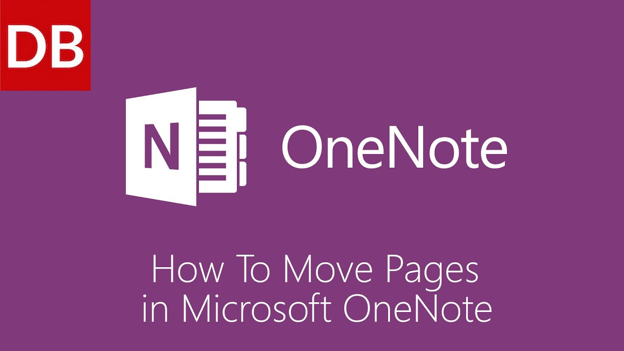 OneNote For Mac | How to Move a Page 1 Minute Tutorial