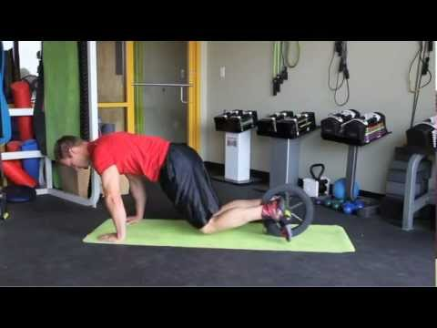 GoFit Ab Wheel Knee Tuck