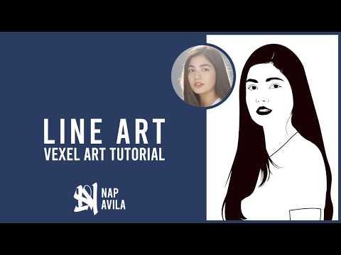 Line Art Vexel Art  [Photoshop tutorial] thumbnail