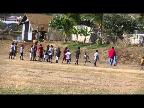 1st Day Of Practice - Youth Football Waianae, Hawaii
