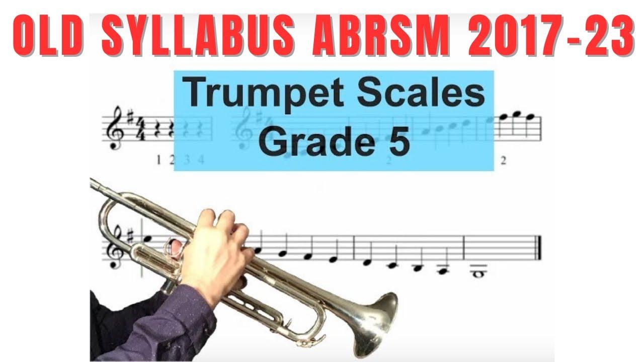 Grade 5 Trumpet Scales ABRSM