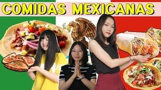 COREANAS PROBANDO COMIDAS MEXICANAS