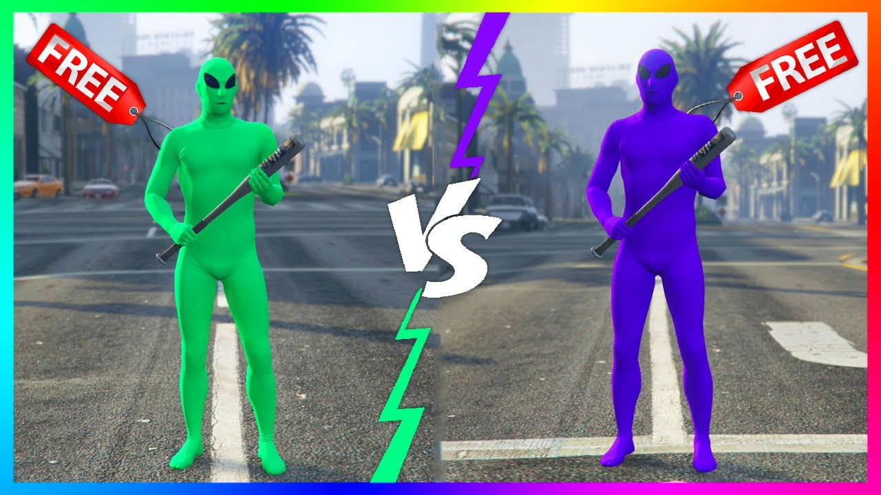 How to get the green and purple alien suits in 'GTA Online' for free