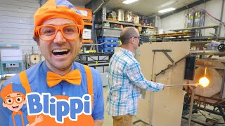 Blippi Learns Arts For Kids With Glass | Learning For Toddlers With Blippi