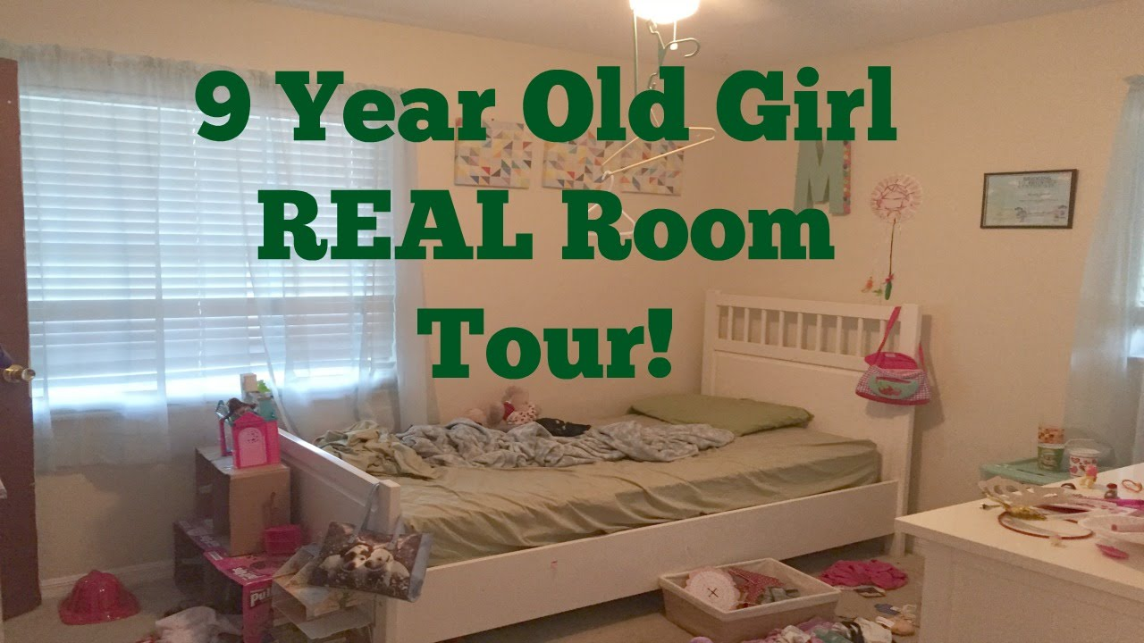 9 Year Old Girl Real Room Tour Youtube
