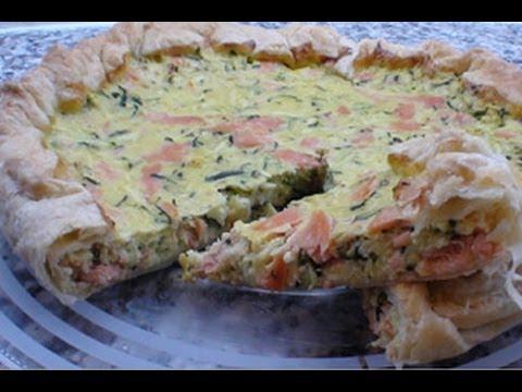 Ricetta Quiche Salmone E Zucchine.Torta Salata Salmone E Zucchine Youtube
