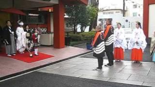 神田明神の神前結婚式:Japanese-style Wedding Ceremony in Kanda Shrine (Kanda Myoujin)