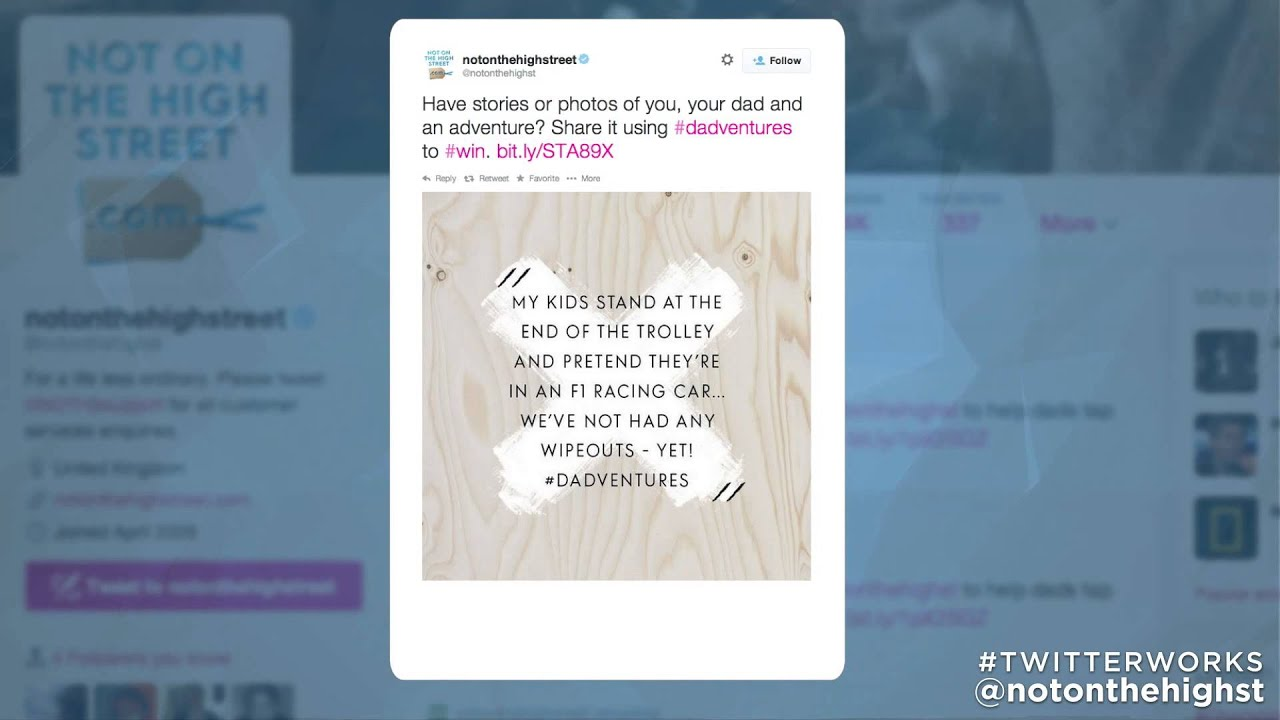 How notonthehighstreet used Tailored Audiences to deliver results | Twitter Work