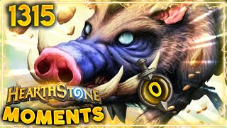0 Attack Huffer IS STILL A BIG THREAT | Hearthstone Daily Moments Ep.1315