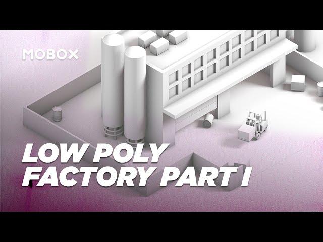 Low Poly Factory Scene (Modeling) - Cinema 4D Tutorial