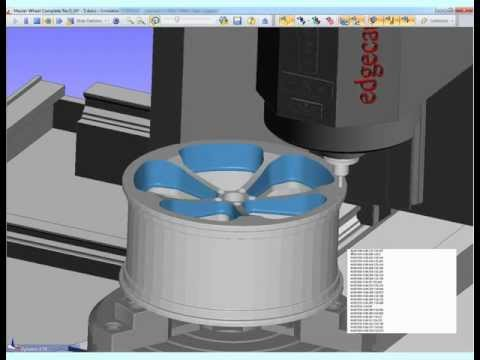 Edgecam 5 Axis wheel machining