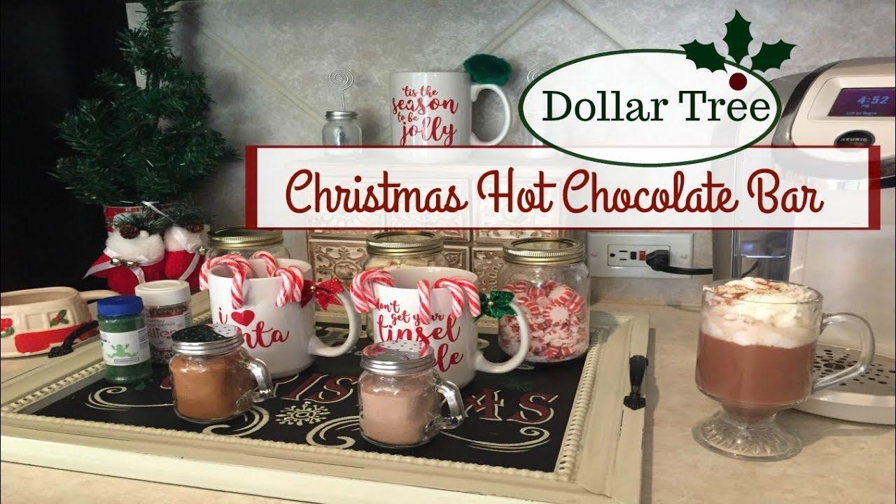 Utube 2020 Christmas Coffee Cicoa Bar DOLLAR TREE | CHRISTMAS HOT CHOCOLATE BAR | 2017   YouTube