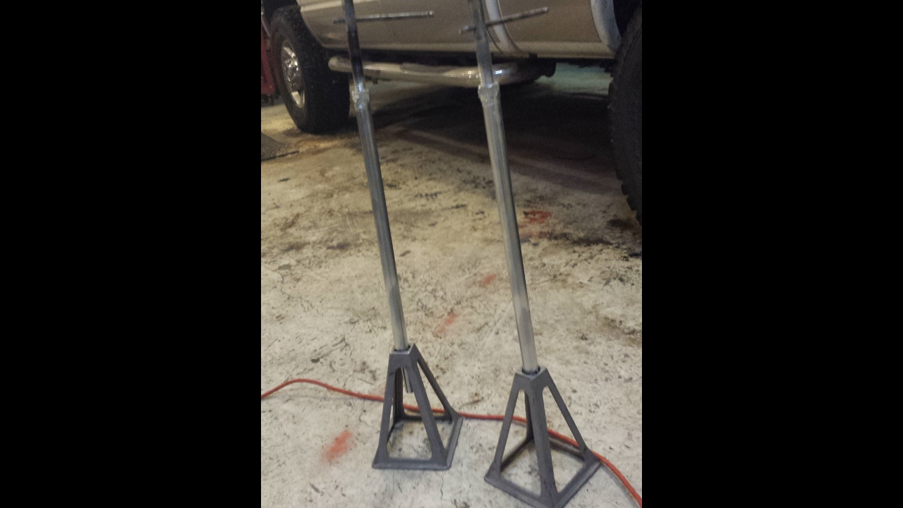 RV slide stands, homemade out of what I had on hand