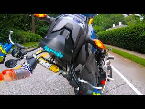 3rd Gear Wheelie on STOCK GROM Gone Horribly WRONG