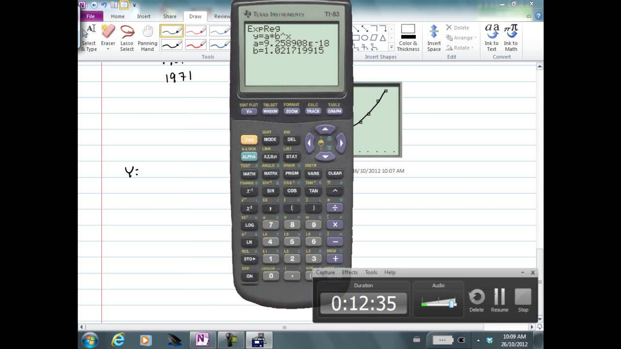 Exponential Regression