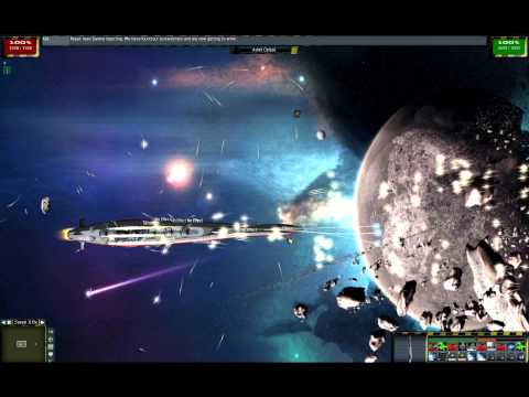 Yamato Space Cruiser VS Anvil shaped battleship