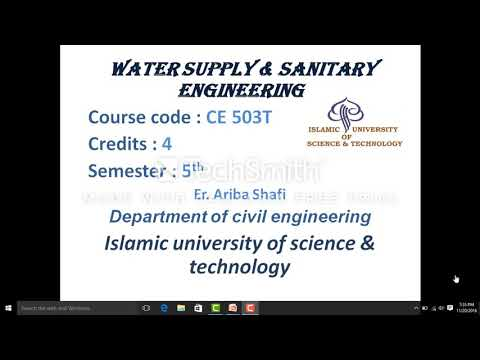 Water supply & sanitary engineering(01)