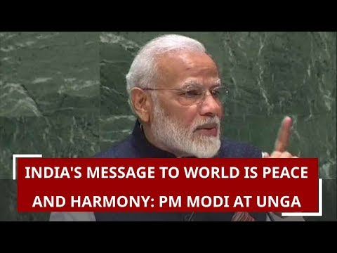 India's message to world is peace and harmony, says PM Modi at UNGA