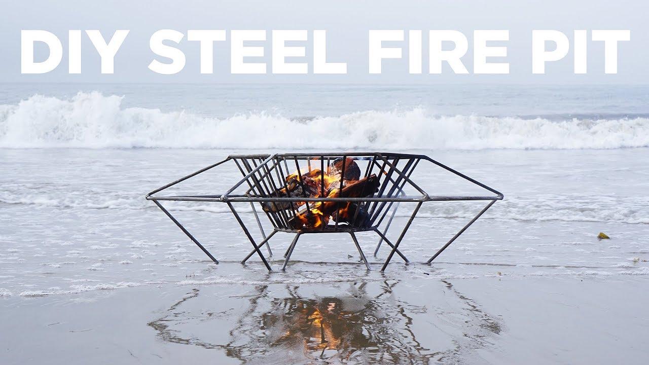 Diy Steel Fire Pit Welding A Fire Pit Out Of Steel Rod