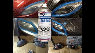 SprayMax 2K clear coat headlight restoration..1 spray can does 3 cars!