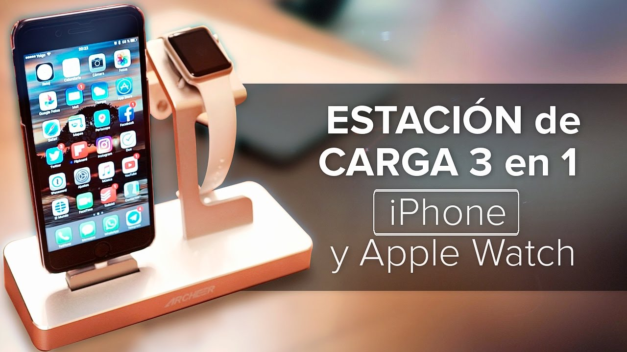 5011a603a5b Estación de carga 3 en 1 para iPhone y Apple Watch - YouTube