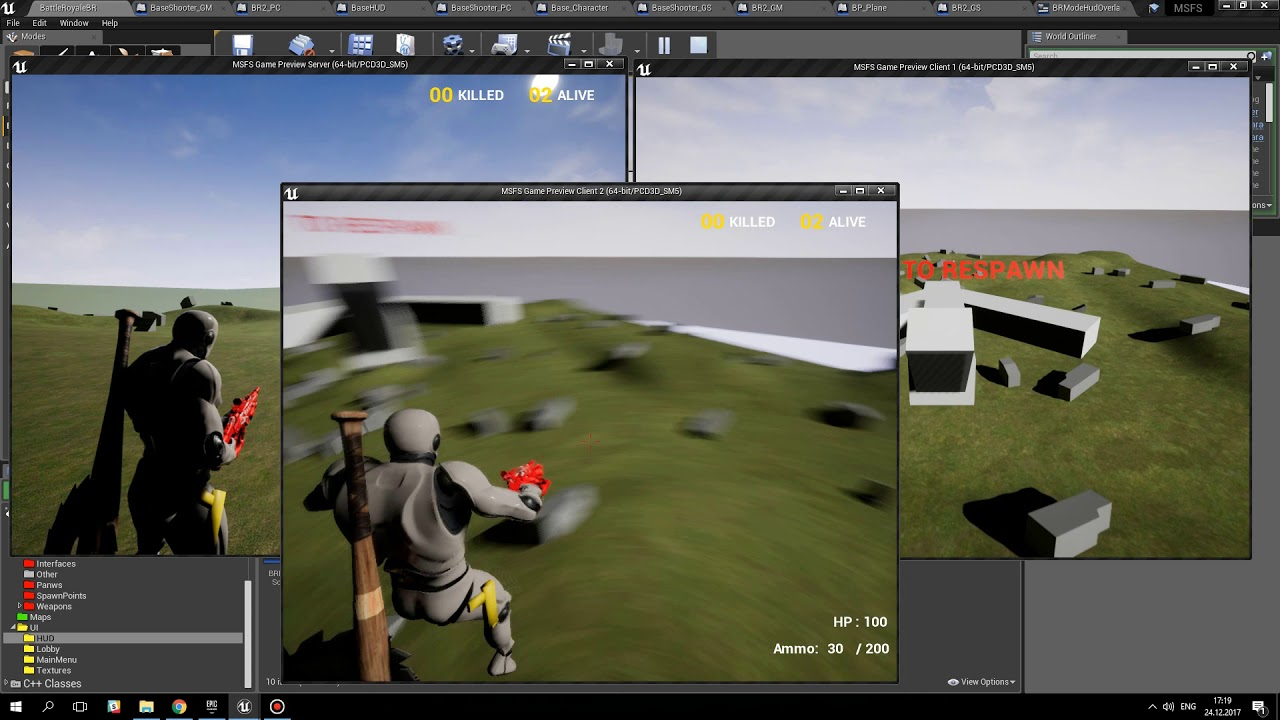 Unreal Engine 4 - Battle Royale Mode  Plane and moving Barrier  MSFS update  1