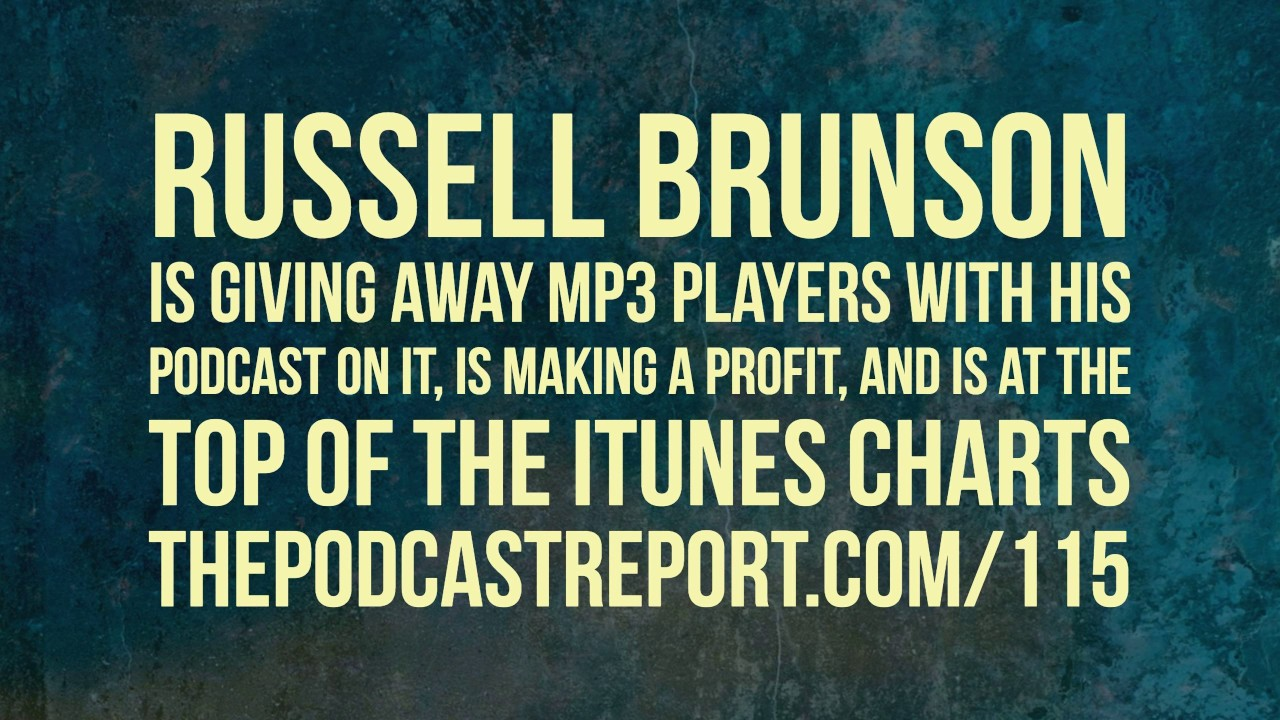 Russell Brunson is GIVING AWAY MP3 Players With His Podcast On It, Is  Making A Profit, And Is At