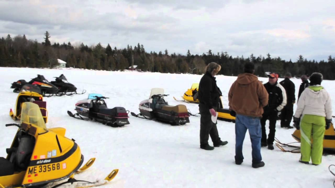 snowmobile vintage maine