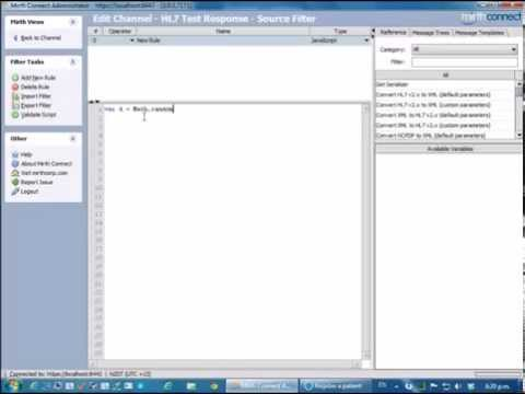 HL7 Tutorial: Testing HL7 Message responses with Mirth Connect and HL7 Soup