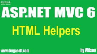 ASP.NET MVC  tutorials ||  HTML Helpers by wilson