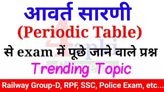 Periodic Table | आवर्त सारणी | RRB GROUP-D, RPF SPECIAL