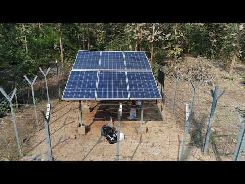 Solar Water Pump In Nagzira Forest Range.