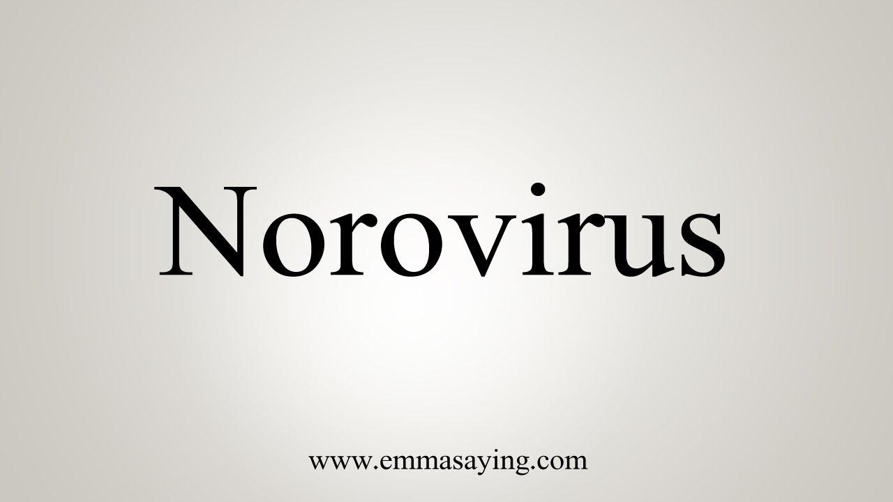 How To Say Norovirus