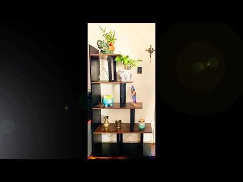 HOMFA Homfa Wooden 5-Tier Bookshelf, Industrial Vintage Freestanding Multipurpose Storage AMAZON