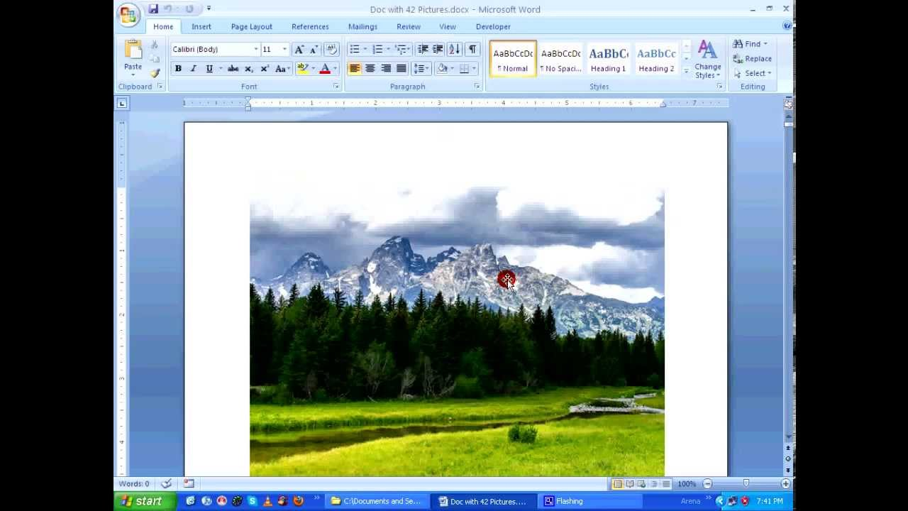 MS Word - How to compress pictures & reduce the file size HD - YouTube