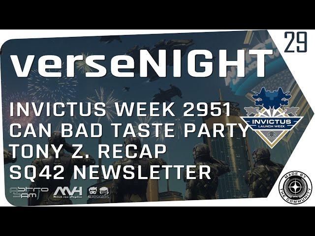 verseNIGHT #29 🌟 STAR CITIZEN Talk & Musik mit AstroSam & Mitch van Hayden 🚀 Invictus, Tony Z...