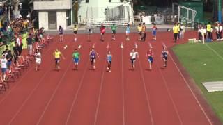 沙田小學校際賽 - 女子甲組100米決賽 - 李泳嵐@培奧(Lane 4)