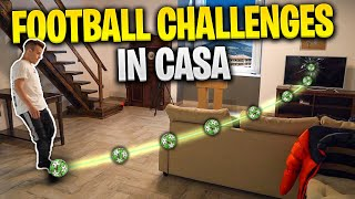⚽🏠 FOOTBALL CHALLENGES in CASA!!! w/Fius Gamer & Ohm