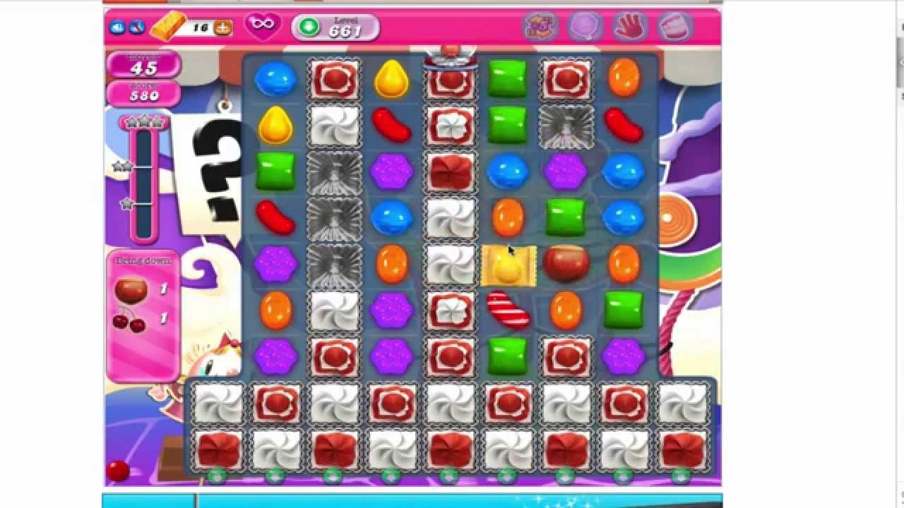 Easy way to Beat Candy Crush 661 No Boosters 3 stars