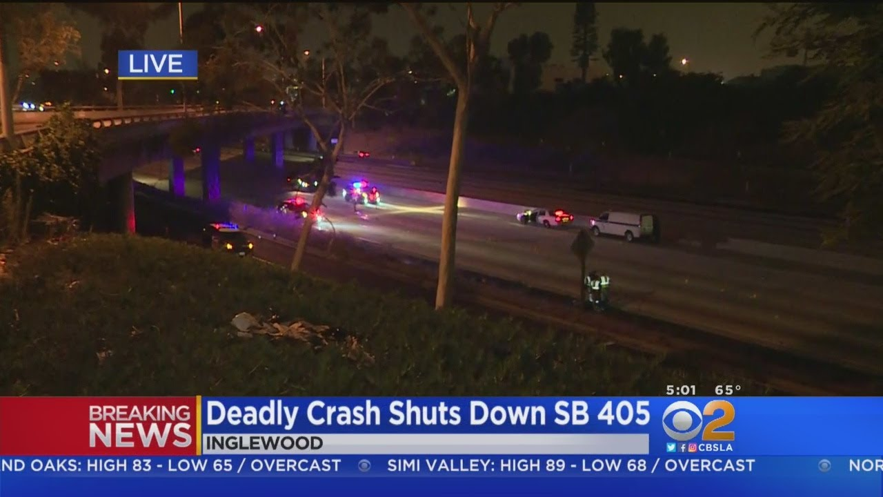 All Lanes SB 405 Freeway Shut Down For Fatal Motorcycle Crash