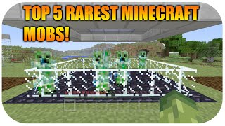 ★Minecraft Xbox 360 + PS3 -  Top 5 Most Rarest Mobs In The Game! ★