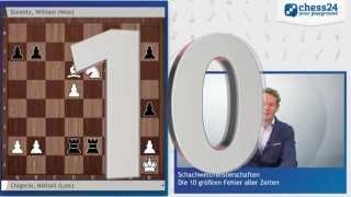 Die 10 größten Fehler der Schach-WM-Geschichte