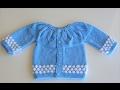Robadan Badem Dilimli Bebe Hırkası (Bonbon Şekeri Modeli)