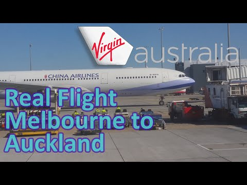 Real Flight | Virgin Australia | Melbourne to Auckland