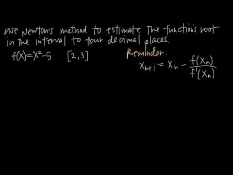 How to use NEWTON'S METHOD (KristaKingMath)