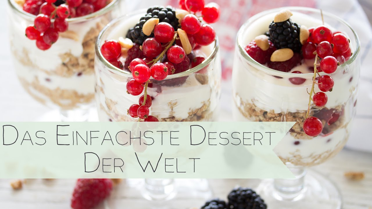 das freulein backt das einfachste dessert der welt schnelles rezept youtube. Black Bedroom Furniture Sets. Home Design Ideas