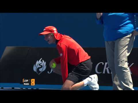 Ball Boy Gets Hit In Balls At Australian Open
