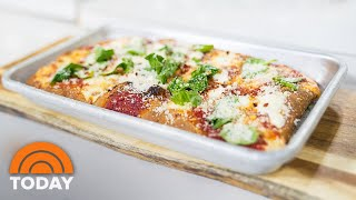 Try Dan Klugers Grandma-Style Pan Pizza And Broccoli Salad  TODAY