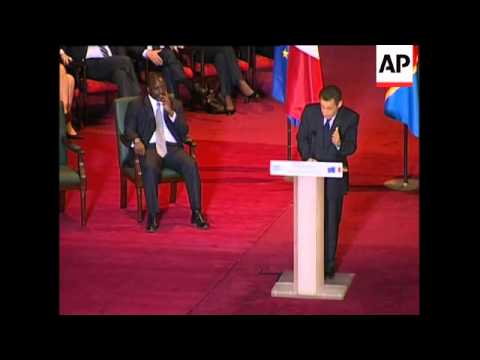 French president on visit, speech to parliament