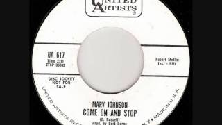 Marv Johnson Come on and stop.